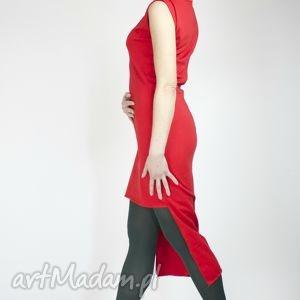 sukienki lady in red, seksowna, efektowna, romantyczna, elegancka, asymetryczna