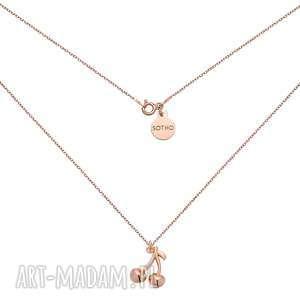 naszyjnik z wisienkami z różowego złota - łańcuszek