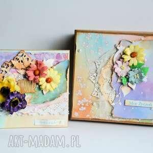zestaw - kartka w pudełku miłość, kartka, pudełko, ślub, rocznica