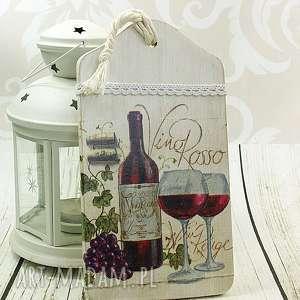 shiraja deska ozdobna - domowa winnica, deska, wino, kuchenna, prezent, drewniana