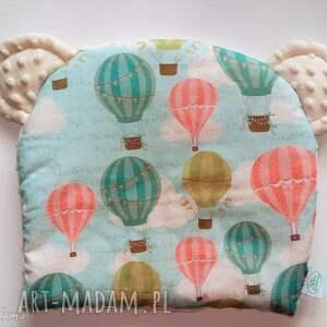 poduszeczka miś balony ekri - balony, poduszka, poduszeczka, niemowlę, niemowlak