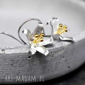 Prezent 925 Srebrne kolczyki DZWONECZKI II , kwiaty, dzwoneczki, srebro, srebrne,