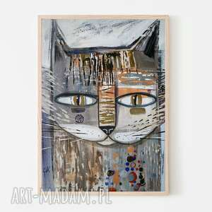 pod choinkę prezent, plakat 40x50 cm - kocur ii, plakat, wydruk, kot, kotek