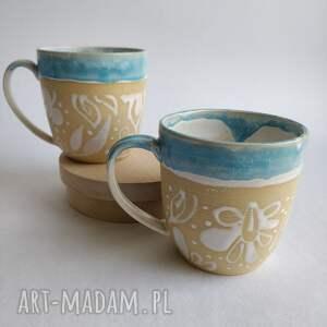 handmade kubki dwa ceramiczne