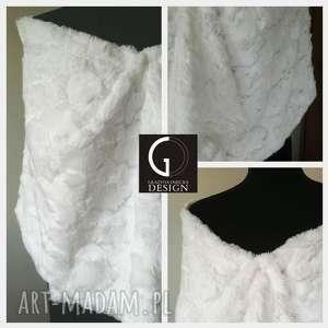 handmade ślub szal ślubny biały