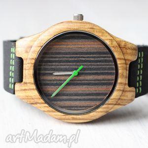 zegarki drewniany zegarek black zebra, zegarek, zebrano