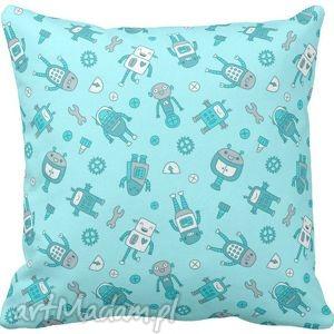 Poszewka na poduszkę dziecięca dla chłopca robot 3071, poszewka, niebieska