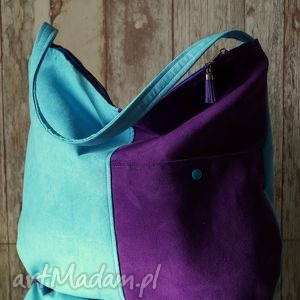 Torba hobo z kieszenią - torebka, hobo, łowicki, wzór, prezent, ekozamsz