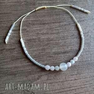bransoletka z toho i kamieniami morganit kamień księżycowy, księżycowy