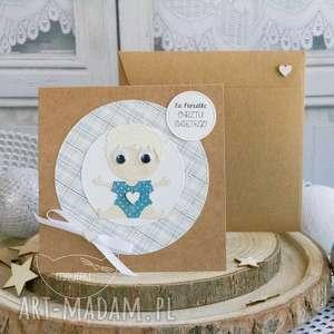 Personalizowana kartka dla chłopczyka - narodziny, chrzest