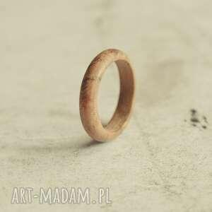 obrączki obrączka z drewna tekowego, pierścionek drewna, drewniana