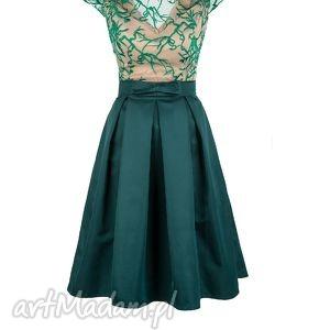handmade sukienki sukienka rozkloszowana z haftowaną koronką zl