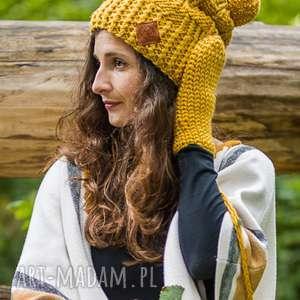 czapki follow me pikantna musztarda, czapka, musztardowa, miodowa, zółta, ciepła