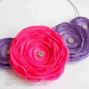 kwiatowa kolia, kwiaty, naszyjnik, biżuteria, kobieta, prezent