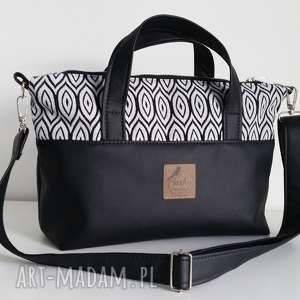 torebka handbag - ekoskóra tkane łezki, handbag, ekoskóra, aztecka, tkana