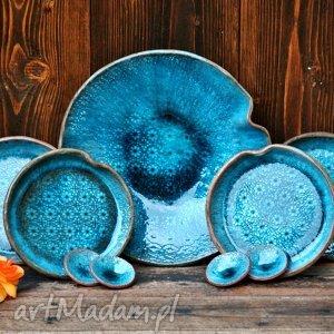 hand made ceramika ocean zestaw naczyń ceramicznych