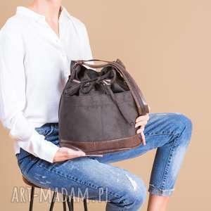 yocca - torba worek khaki i brąz, worek, modna, wyjątkowa, trendy, pojemna