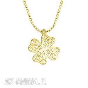celebrate - clover 4 - necklace g - ,koniczynka,celebrytka,łańcuszek,