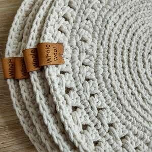 zestaw 4 podkładek ze sznurka bawełnianego, podkładki na stół