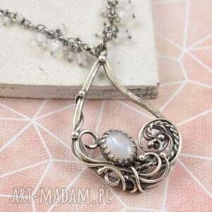 margaret - naszyjnik z kamieniem księżycowym, naszyjnik, wisior, kamień