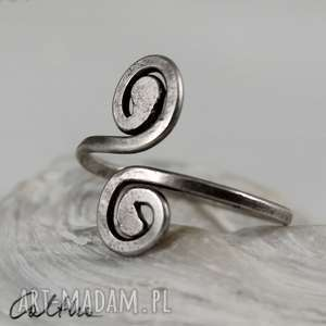 Zawijasy - srebrny pierścionek, pierścień, srebro, srebrny, regulowany