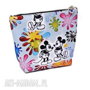 Kosmetyczka Miki, saszetka myszka wodoodporna kosmetyczka Mickey, duża kolorowa