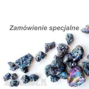 zamówienie specjalne, ammolit, ognisty, pierścionek, metaloplastyka, oksydowany