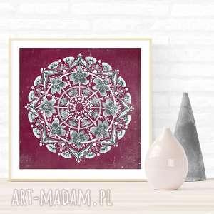 Mandala 50x50cm, mandala, plakat, sztuka, grafika, dom, wnętrze
