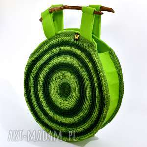 Torebka wiosenna w zieleniach barska torebka, torba, unikat
