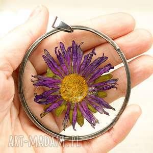 z30 naszyjnik z prawdziwych kwiatów w żywicy, kwiatem, kwiaty