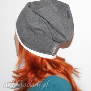 czapka dresowa oversize dwustronna dwukolorowa - beaanie, czapka, oversize, dwustronna