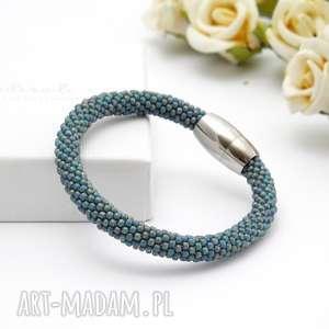 ręcznie wykonane bransoletki bransoletka koralikowa sea blue
