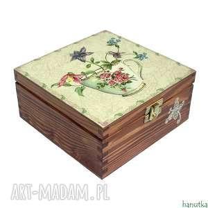 Prezent HERBATKA W OGRODZIE -herbaciarka, pudełko, prezent, skrzyneczka
