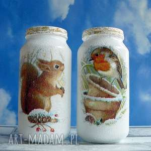 magisches-atelier zima święta komplet dwóch szklanych, słoik