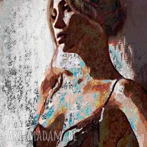 obraz kobieta na płótnie, 60 x 90, malowany ręcznie, digital painting