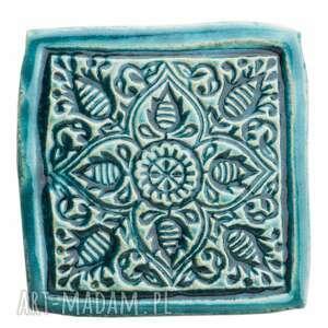 dwie podstawki pod kubek, podstawki, ceramika, ceramika artystyczna, glina