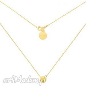 złoty naszyjnik z delikatną karmą kryształkiem swarovski crystal, karma