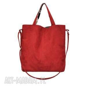 3069f9fea41c6 ... 16-0012 czerwona duża torebka damska z paskiem na ramię jay