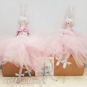 króliczki baletnice dwupak - ,króliczki,tilda,lalka,baletnica,
