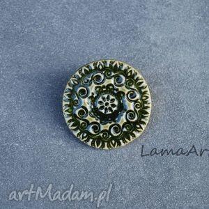 pomysł na prezent święta Ceramiczna Broszka., broszki, ceramiczne,