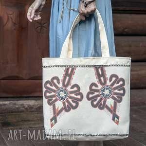 torba z motywem góralskim,, podwójna parzenica, torba, torebk