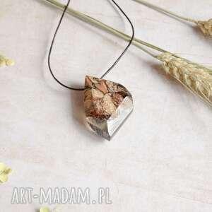 terelia - kryształowy wisior z drewna i żywicy, drewna, żywicy