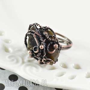 pierścionki earth - pierścionek z krzemieniem, pierścionek, pierścionek-prezent