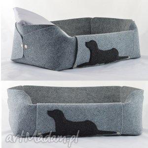 Legowisko dla psa z filcu - posłanie psa, poduszka szare