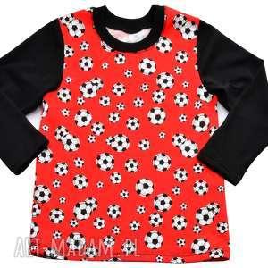 PIŁKI bluzka z długim rękawem dla chłopca, 100% polska bawełna, rozmiary 68-122
