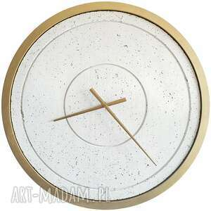 zegary duży zegar betonowy biały złoty handmade designerski oryginalny