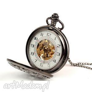 Ażur IV (dark) white dial, zegarek