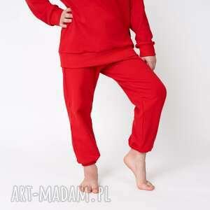 baggy dresowe czerwone 116/122, 128/134, bluza basic, spodnie gładkie