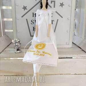 Anioł tilda pamiątka pierwszej komunii świętej lalki