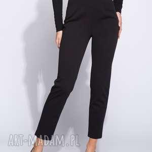 ręcznie zrobione spodnie eleganckie czarne damskie na wysoki stan